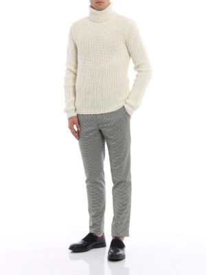 M.S.G.M.: Tailored & Formal trousers online - Houndstooth formal trousers