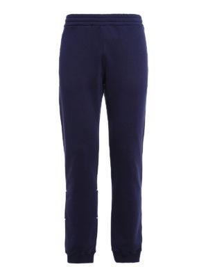M.S.G.M.: tracksuit bottoms - Logo cotton trousers
