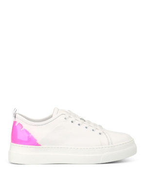 M.S.G.M.: trainers - Fluorescent pink detail sneakers