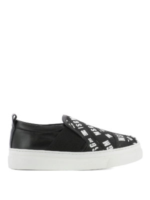 M.S.G.M.: trainers - Logo grosgrain bands slip-ons