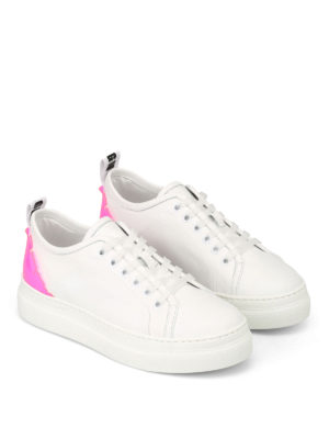 M.S.G.M.: trainers online - Fluorescent pink detail sneakers