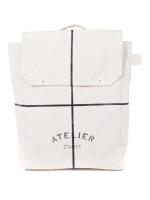 Maison Margiela: backpacks - Cotton canvas summer backpack