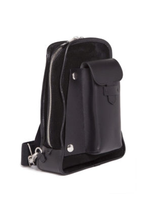 Maison Margiela: backpacks online - Leather suede one shoulder backpack