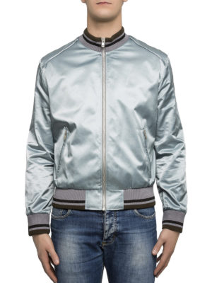 Maison Margiela: bombers online - Technical fabric sateen bomber