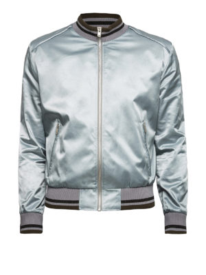 Maison Margiela: bombers - Technical fabric sateen bomber