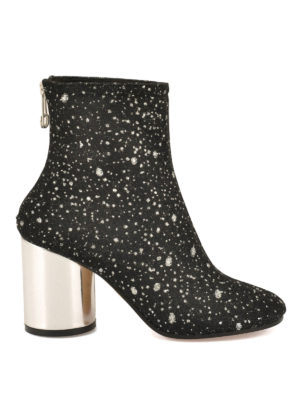 Maison Margiela: boots - Socks glittered nylon booties