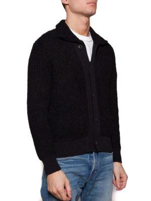 Maison Margiela: cardigans online - Black cotton blend cardigan