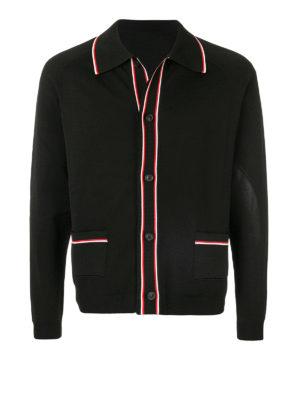 Maison Margiela: cardigan - Cardigan con colletto a punta