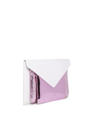 Maison Margiela: clutches online - White and pink leather multi clutch