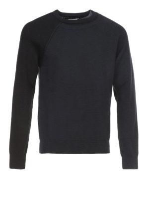 Maison Margiela: crew necks - Cotton and wool layered sweater