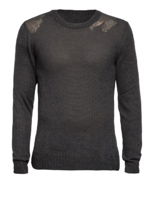 Maison Margiela: crew necks - Mohair and cotton blend sweater
