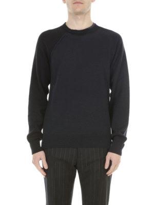 Maison Margiela: crew necks online - Cotton and wool layered sweater