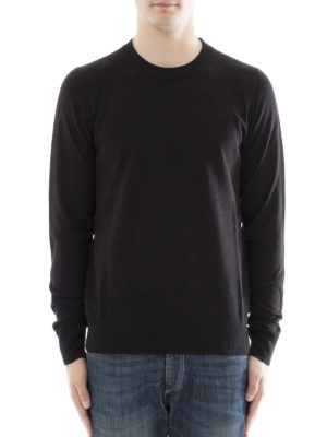 Maison Margiela: crew necks online - Cotton wool sweater with patches