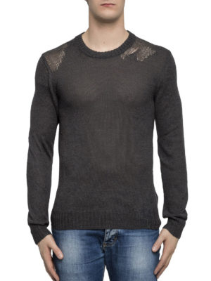 Maison Margiela: crew necks online - Mohair and cotton blend sweater