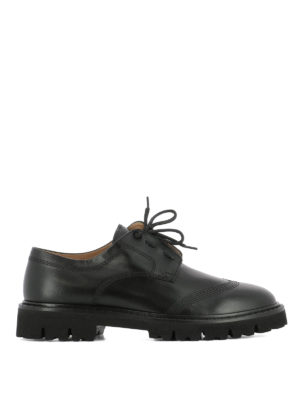 Maison Margiela: lace-ups shoes - Exposed stitchings Derby shoes
