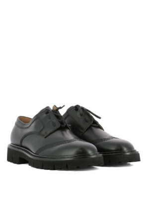 Maison Margiela: lace-ups shoes online - Exposed stitchings Derby shoes