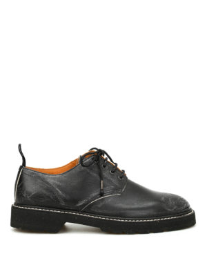 Maison Margiela: lace-ups shoes - Used effect leather Derby