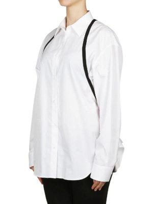 Maison Margiela: camicie online - Camicia over con inserti in gros grain