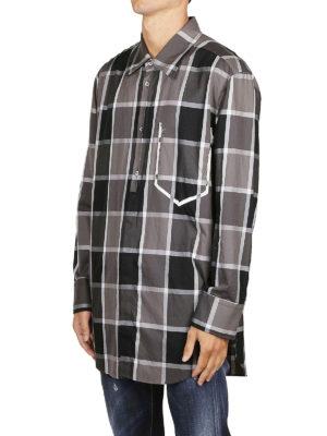Maison Margiela: camicie online - Camicia a quadri con sagoma tasca