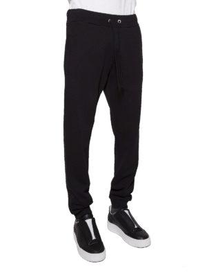 Maison Margiela: pantaloni sport online - Pantaloni da jogging felpati neri