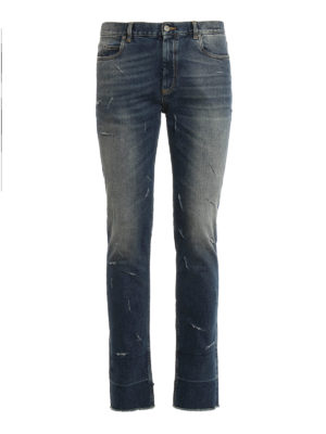 Maison Margiela: skinny jeans - Distressed skinny jeans