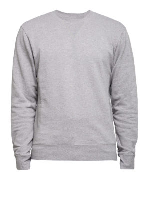 Maison Margiela: Sweatshirts & Sweaters - Leather patched elbows sweatshirt