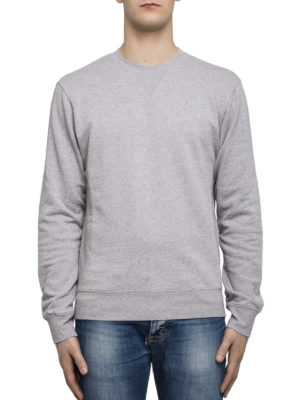 Maison Margiela: Sweatshirts & Sweaters online - Leather patched elbows sweatshirt