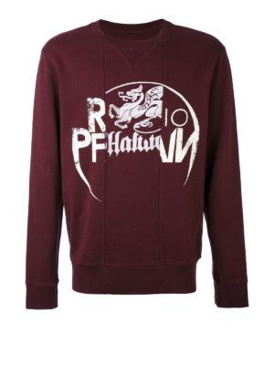 Maison Margiela: Sweatshirts & Sweaters - Printed patchwork sweatshirt