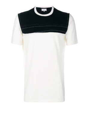 Maison Margiela: t-shirts - Contrasting panelled cotton T-shirt