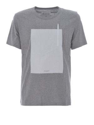 Maison Margiela: t-shirts - Grey T-shirt with pen