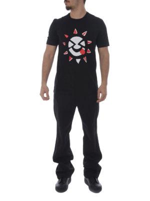 Maison Margiela: t-shirts online - Funny sun print T-shirt