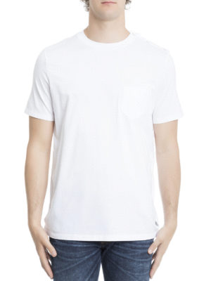 Maison Margiela: t-shirts online - Patch pocket jersey Tee