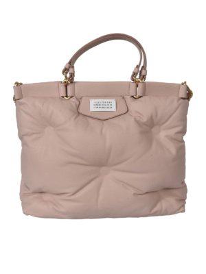 Maison Margiela: totes bags - Medium Glam Slam bag in pink