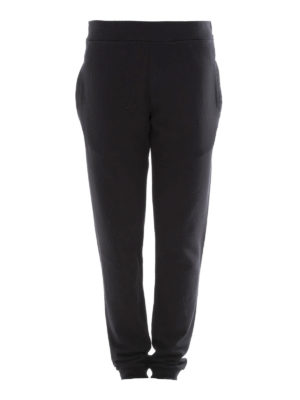 Maison Margiela: tracksuit bottoms - Black cotton tracksuit bottoms