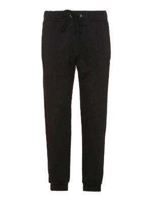 Maison Margiela: pantaloni sport - Pantaloni da jogging felpati neri
