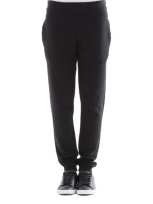 Maison Margiela: tracksuit bottoms online - Black cotton tracksuit bottoms