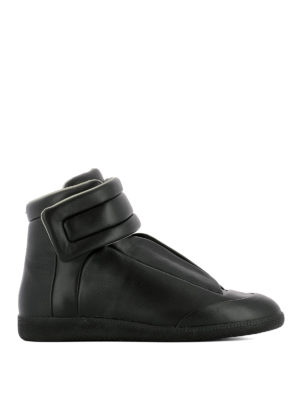 Maison Margiela: trainers - Future leather high top sneakers