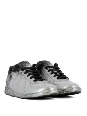 Maison Margiela: trainers online - Replica glitter leather sneakers