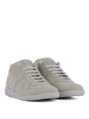 Maison Margiela: trainers online - Replica leather and suede sneakers