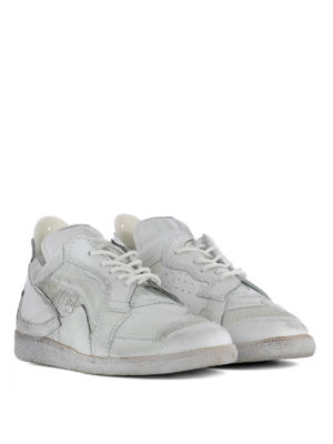 Maison Margiela: trainers online - Vintage effect patchwork sneakers
