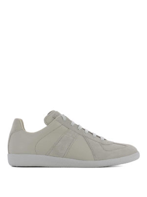Maison Margiela: trainers - Replica leather and suede sneakers