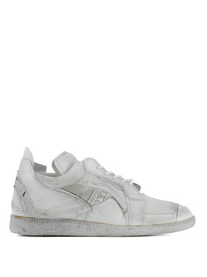Maison Margiela: trainers - Vintage effect patchwork sneakers