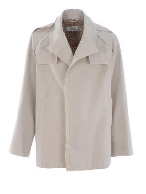 Maison Margiela: trench coats - Twill cotton trench coat