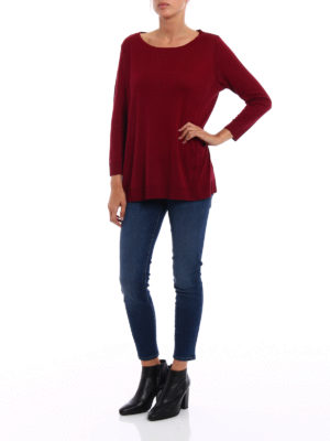 Majestic Filatures: boat necks online - Cotton and cashmere blend sweater