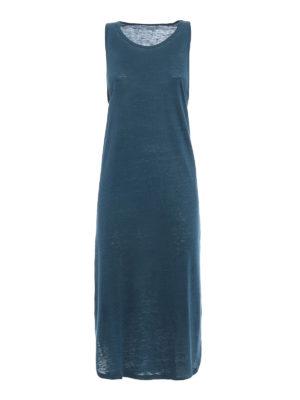 Majestic Filatures: knee length dresses - Linen blend sleeveless jersey dress