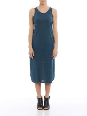 Majestic Filatures: knee length dresses online - Linen blend sleeveless jersey dress
