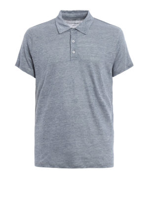 Majestic Filatures: polo shirts - Linen and silk polo shirt
