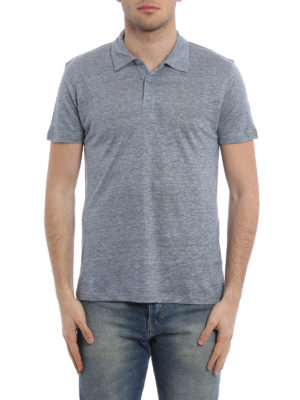 Majestic Filatures: polo shirts online - Linen and silk polo shirt
