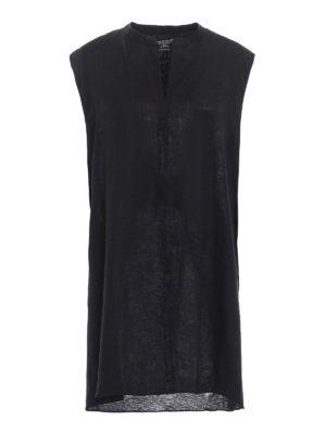 Majestic Filatures: short dresses - Linen and jersey tunic dress