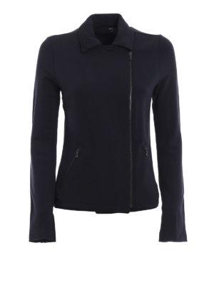Majestic Filatures: Felpe e maglie - Giacca in morbido jersey con zip asimmetrica